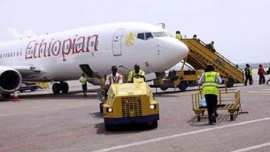 Photo of Ethiopian Airlines plane made an emergency landing in Senegal