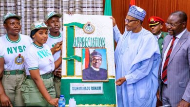 Photo of New Allowances: NYSC Members pay 'Thank You' visit to President Buhari