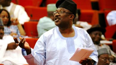 Photo of Adeyemi's tears as symbol of a Parliament held hostage